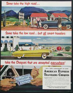Original 1951 American Express Ad  from Retro Reveries