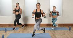 Barry& Bootcamp trainer Allie Cohen keeps things moving by mixing strength training with cardio moves in this eight-exercise circuit workout. Toning Workouts, At Home Workouts, Fitness Exercises, Workout Tips, Week Workout, Workout Routines, Tuesday Workout, Gym Routine, Workout Schedule