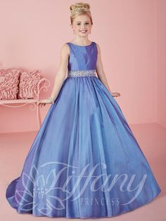 0c450e602cf 2016 New Princess Girls Pageant Dresses Jewel Neck Crystal Beaded Long  Corset Back Satin Sweep Train Kids Flower Girls Dress Birthday Gowns Girls  Ball ...