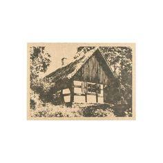 Pocztówka z chatą krajeńską (wzór 3).  Papier kraftowy 350g  Wysyłka: jeżeli na stanie to 72h Vintage World Maps