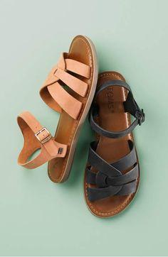 e837634611d8b1 TOMS  Zoe  Flat Quarter Strap Sandal (Women)