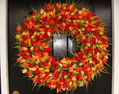 beautiful tulip wreath for spring