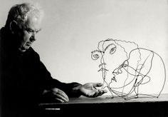 "Alexander Calder with ""Edgar Varese"" and ""Untitled"" , Saché, France, 1963"