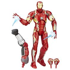 Amazon.com: Marvel 6-Inch Legends Series Iron Man Mark 46 Figure: Toys & Games
