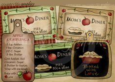 For my digital cookbook scrapbook Digital Stamps, Digital Scrapbooking, Scrapbooking Ideas, Printable Crafts, Printables, Kitchen Clipart, Apple Dumplings, Recipe Scrapbook, Apple My