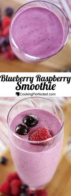 Blueberry Raspberry Smoothie – Raspberries – Ideas of Raspberries -… Blueberry Raspberry Smoothie – Raspberries – Ideas of Raspberries – Simply Delicious Blueberry Raspberry Smoothie Cooking Perfected Smoothie Detox, Blackberry Smoothie, Fruit Smoothie Recipes, Healthy Smoothies, Rasberry Smoothie Recipe, Clean Smoothie, Blueberry Juice, Nutribullet Recipes, Healthy Breakfasts