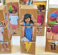 Make mix and match box dolls with Mod Podge