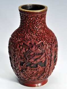 Chinese Lacquerware Art- Carved Lacquerware