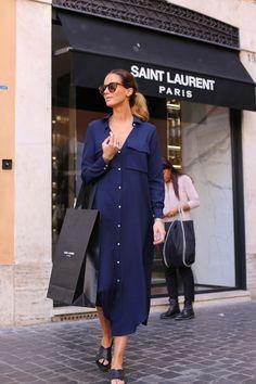 Платье-рубашка глубокого синего цвета - великолепно!