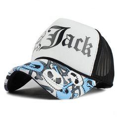 Unisex JACK Baseball Cap Breathable Summer Skull Cap with Mesh Casual  casquette Trucker Hat Adjustable Snapback Hats 69613e3d85e6
