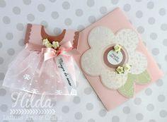 Hilda Designs: Girl Baby Shower Blog Hop, sellos Latina Crafter