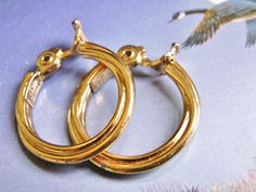 Monet Thick Twisted Hoop Gold Tone, Hinged Fastener, Clip On Earrings, Designer Signed by dazzledbyvintage on Etsy