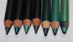 green Kiko eye pencils http://www.talasia.de/2015/04/16/7-shades-of-green-kiko-kajalstifte/