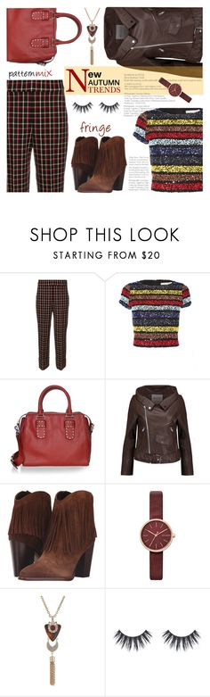"""""""Fringe New Trend"""" by sara-cdth ❤ liked on Polyvore featuring Incotex, Alice + Olivia, Rebecca Minkoff, W118 by Walter Baker, Sam Edelman, Skagen and GUESS"""