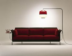 Low Soft Shell Sofa ­ 2005 Sofa collection  Steel, fibreglass, foam, fabric or leather, polished aluminium, microfibres Various dimensions.  Vitra, Switzerland