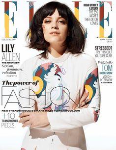 Lily Allen - Elle Magazine Cover [United Kingdom] (March 2014)