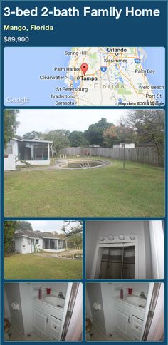 3-bed 2-bath Family Home in Mango, Florida ►$89,900.00 #PropertyForSale #RealEstate #Florida http://florida-magic.com/properties/70762-family-home-for-sale-in-mango-florida-with-3-bedroom-2-bathroom