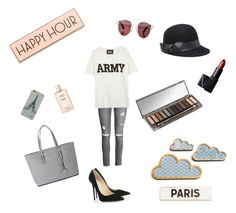"""Lové"" by lisa-fournol ❤ liked on Polyvore featuring NARS Cosmetics, H&M, Urban Decay, Bebe, Christian Dior, Michael Kors, Jimmy Choo, NLST and Rosanna"