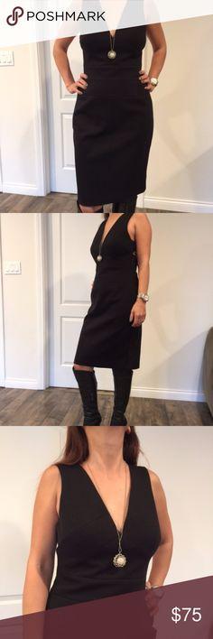 Perfect LBD/Designer Black Evening Dress Perfect LBD by Robert Rodriguez, open back Robert Rodriguez Dresses Midi