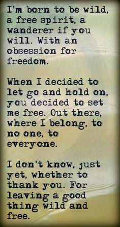 thank you, more than you know. amen to my free soul