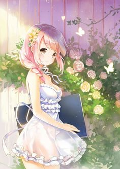 Beautiful Day In The Garden Anime Characters Anonymous Manga