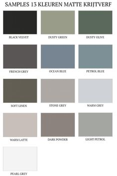 Blue Chalk Paint, Kitchen Colour Schemes, Small House Design, Home Design Plans, Warm Grey, Grey Stone, Color Inspiration, French Grey, Interior Decorating