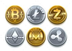 Buy Digital Vector Cryptocurrency Coins Icons Set With Bitcoin by frimufilms on GraphicRiver. Bitcoin, Ethereum, Litecoin, Monero, Ripple and Zcash realistic. Bitcoin Logo, Bitcoin Business, Buy Bitcoin, Bitcoin Wallet, Bitcoin Account, Bitcoin Hack, Business Money, Bitcoin Price, Blockchain