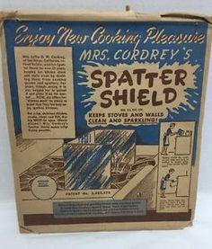 Vintage Mrs. Cordrey's spatter shield. Folds up for easy storage.