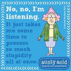 #AuntyAcid no, no I'm listening