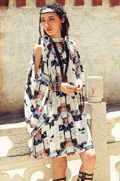 Aporia.As Geometric Print Dress0