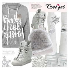 """""""Rosegal Snowflake hoodie"""" by vn1ta ❤ liked on Polyvore featuring Giuseppe Zanotti and Brunello Cucinelli"""