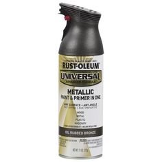 Rust-Oleum Universal Flat Oil Rubbed Bronze Metallic Spray Paint and Primer In One (Actual Net Contents: