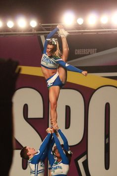 R.I.P. Smoke   cheer competition stunt bow and arrow competitive cheerleading cheerleader #KyFun #cheer m.20.9 from Cheerleading: Stunts board