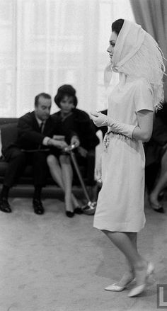 1962 - Yves Saint Laurent Couture show (the first)
