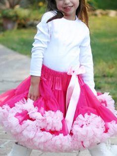 1f37a663271a68 Price tracker and history of Girls petti skirt,tutu skirt hotpink + pink  fringe