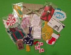 Christmas Gift Tags Kit 19 Piece Set Cardstock Comes In Handmade Envelope #Handmade #Christmas