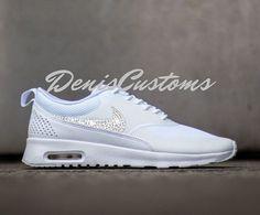 Custom AB Sparkle Nike Air Max Thea White Sneakers