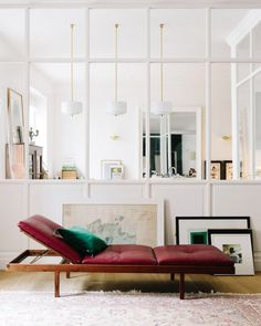 House Tour :: A Happy Chic Parisian Apartment - coco kelley - gorgeous leather lounger Living Room Red, Home And Living, Living Room Decor, Living Spaces, Decoration Inspiration, Interior Inspiration, Decor Ideas, Room Ideas, Design Inspiration