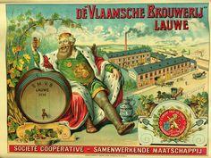 Chromolitographie van de Vlaamse Brouwerij .