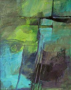 "CAROL NELSON FINE ART BLOG: ""Color Study 1"" acrylic abstract painting © Carol Nelson Fine Art"