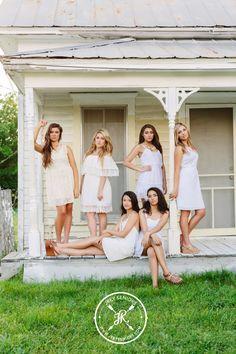 2015 Spokesmodel Magazine Shoot by JRey Seniors   www.jreyseniors.com. High School Senior Inspiration. Group Posing Inspiration. White Dress Theme.