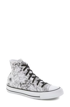 Chuck Taylor Floral Outline