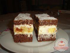 Jugoszláv krémes Hungarian Cake, Hungarian Recipes, Ital Food, Cake Cookies, Tiramisu, Drink, Ethnic Recipes, Kitchen, Cucina