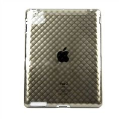 iPad 2 Nonslip Clear Gray TPU Back Skin Cover  now only $8.49 with FREE US & Int'l Shipping
