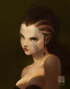 Lucia, Kan Liu(666K信譞) on ArtStation at https://www.artstation.com/artwork/lENBe