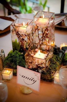 spring floating flowers wedding centerpieces Spring wedding styling and inspiration. Floating Candles Wedding, Winter Wedding Centerpieces, Floating Candle Centerpieces, Floating Flowers, Centerpiece Decorations, Unity Candle, Floating Flower Centerpieces, Modern Centerpieces, Wedding Decorations