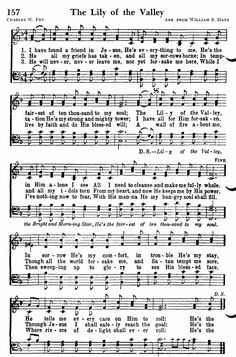 """Hymn: """"The Lily of the Valley"""". Gospel Song Lyrics, Christian Song Lyrics, Gospel Music, Christian Music, Music Lyrics, Music Songs, Hymns Of Praise, Praise Songs, Worship Songs"""