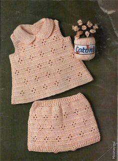 2014 Girls and Boys Knitting Team Samples - Kindermode Ideen 2019 Crochet Baby Dress Pattern, Baby Dress Patterns, Baby Girl Crochet, Crochet Baby Clothes, Baby Knitting Patterns, Knitting For Kids, Crochet For Kids, Knit Crochet, Baby Dress Design
