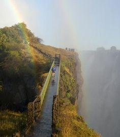 "Victoria Falls Bridge, Africa #rainbow From- ""35 Brilliant Rainbows Around the World"" - Budget Travel"