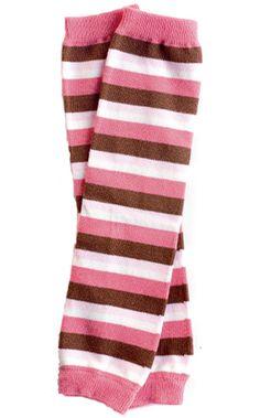 ( Pink & brown stripe baby girl leg warmers by My Little Legs Leg Warmers Outfit, Girls Leg Warmers, Baby Leg Warmers, Baby Girl Leggings, Baby Kids Clothes, Pink Brown, 6 Years, Pink Girl, New Baby Products
